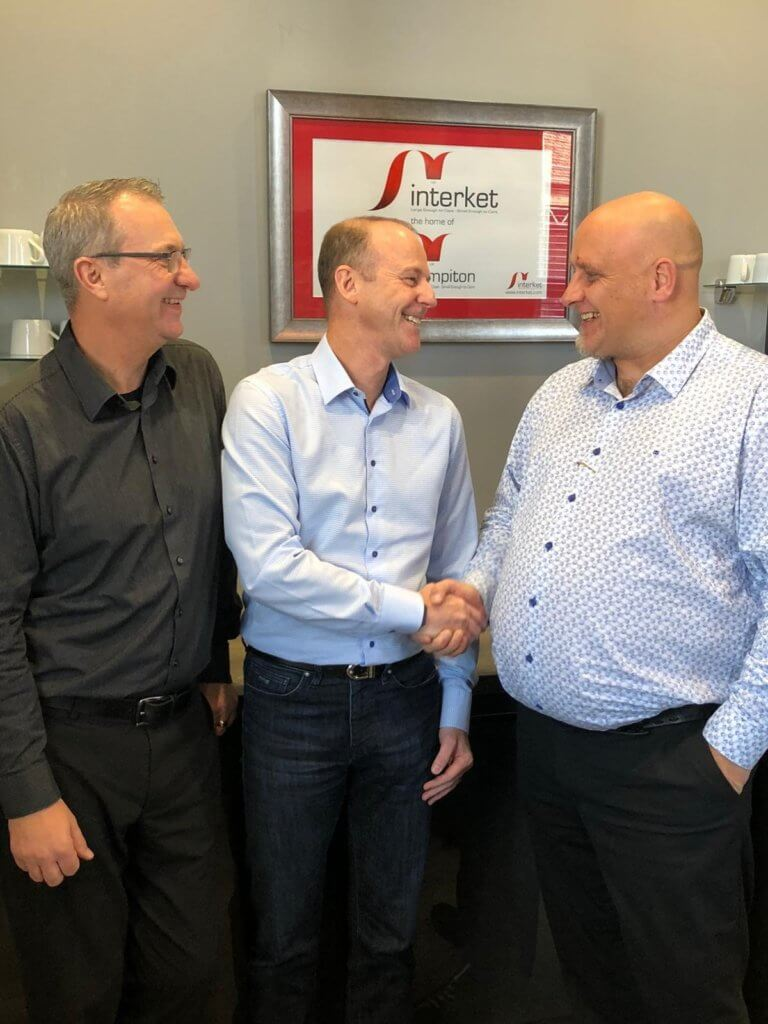 Left to right; Vince Hughes, Production & Technical Manager (UK), Interket Limited, Nick Tyrer, Sales Director, MPS Systems (UK) Ltd. and Tim Pattison, Sales & Operations Director, Interket Limited