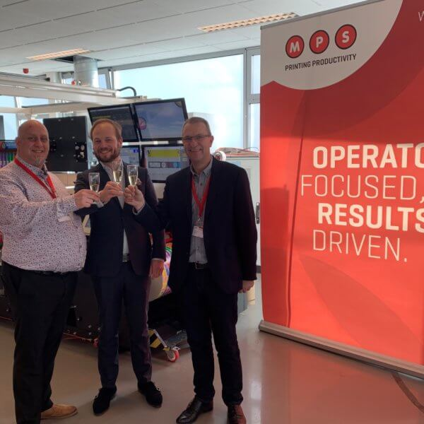 Pictured Left to Right;  Tim Pattison, Interket UK Sales and Operations Director,   Niels van Groenendaal, Area Sales Manager of MPS Systems B.V. and Vince Hughes Production and Technical Manager.
